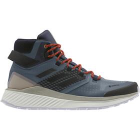 adidas TERREX Folgian Hiker Mid Gore-Tex Vandresko Herrer, legacy blue/core black/raw desert